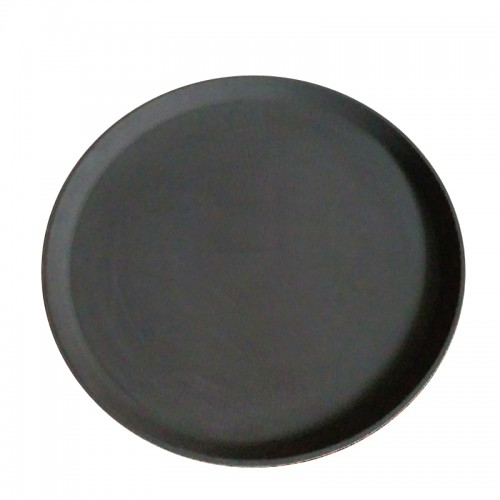 1600PT : Round Tray Non-Slip DIA 40.5cm Brown