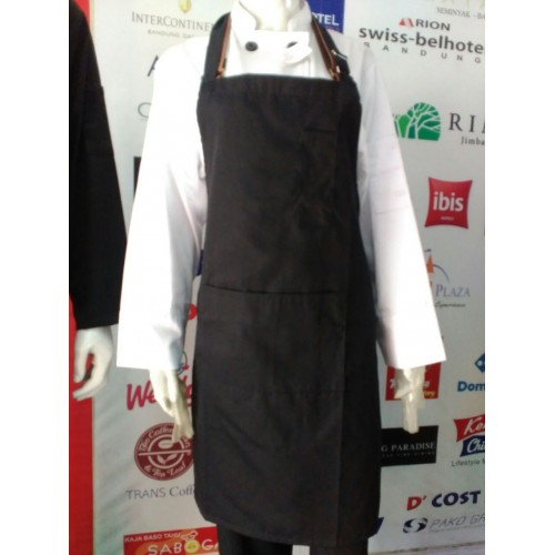 HC-BA-B : BIP APRON COTTON MIX BLACK