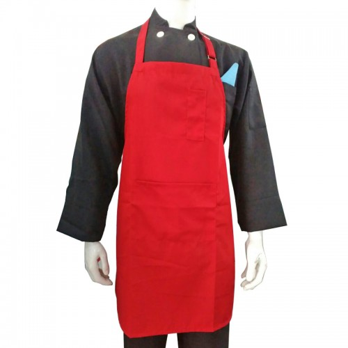 HC-BA-RED-2 : BIP APRON COTTON MIX RED 2