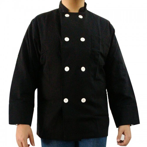 HC-CSP-B-L : Chef Suit Black Premium Cotton