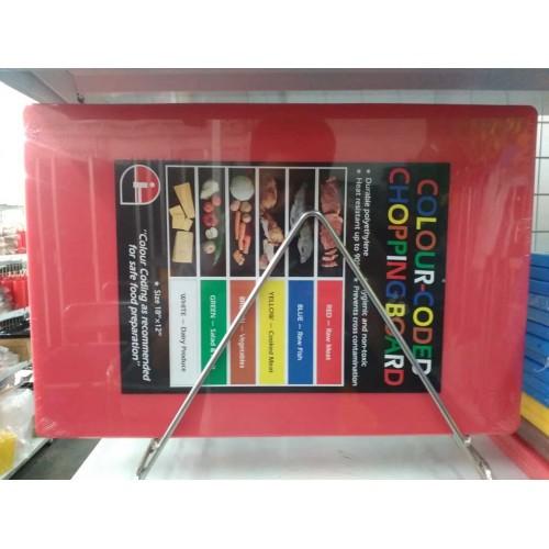 "MK-CB-520R : Cutting Board 18""X12""X1/2"" Red"