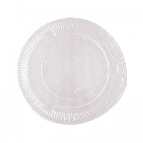 MK-EL-0001-LID : 93 MM PET FLAT LID WITH CROSSMARK 2g