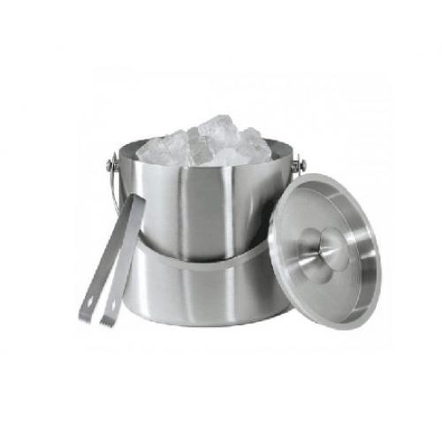 1L Double Drum Ice Bucket With Ice Slip