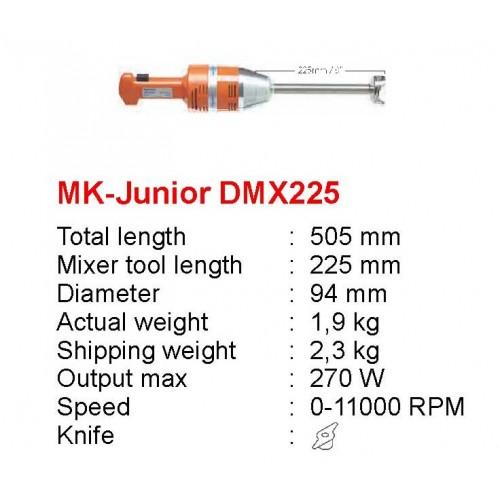 MK-JUNIOR-DMX-225 : JUNIOR MIXER PLUS+VAR. 230V - CE PLUG