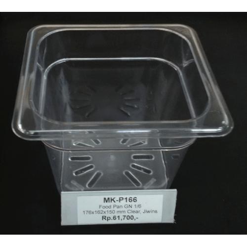 Food Pan GN 1/6, 176x162x150mm Clear, JIWINS