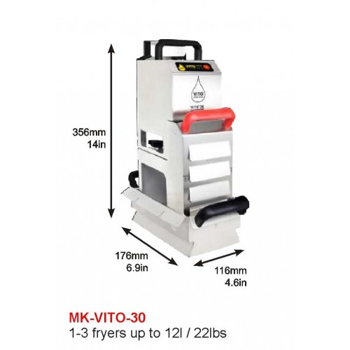 MK-VITO-30 : DEEP FRYER, 2X10L, 1-3 FRYER UP TO 12l/22lbs