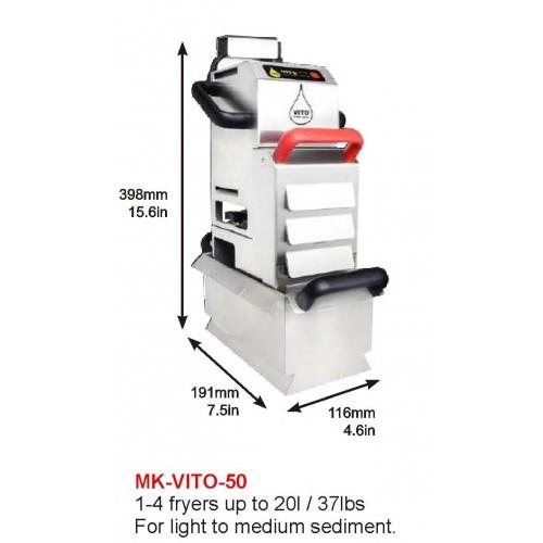 MK-VITO-50 : DEEP FRYER, 4 X10 OR 2X25L, 1-4 FRYER UP TO 20l/37lbs, FOR LIGHT TO MEDIUM SEDIMENT