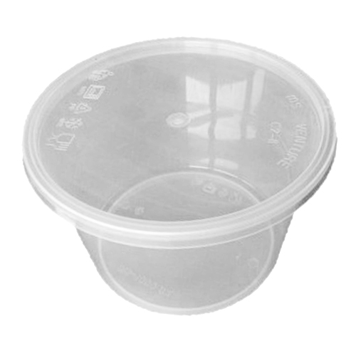 UL-1000ML : Round Container 147 x 96 1000ml  transparan
